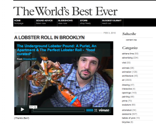 The World's Best Ever Lobster Roll