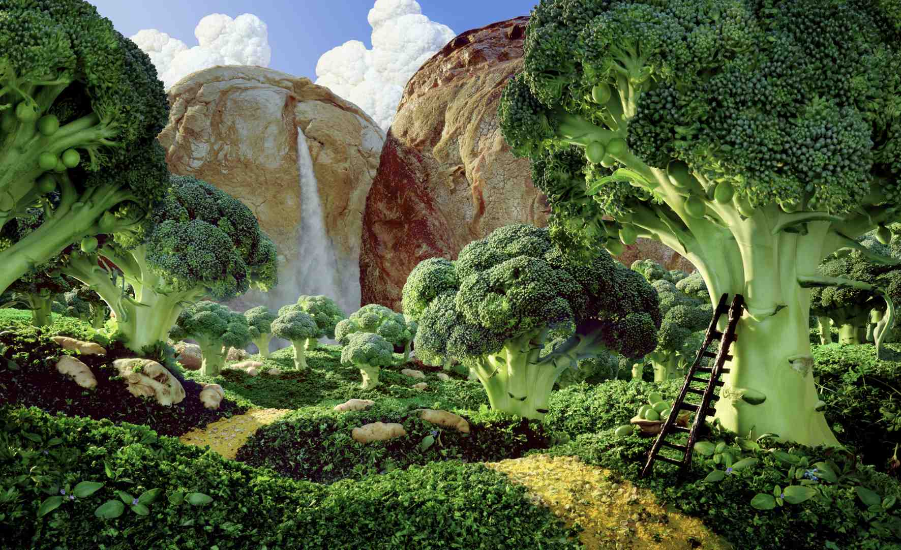 Paisajes diseñados con comida Carl Warner Landscapes designed with food