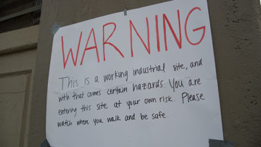 Vendys Warning Sign