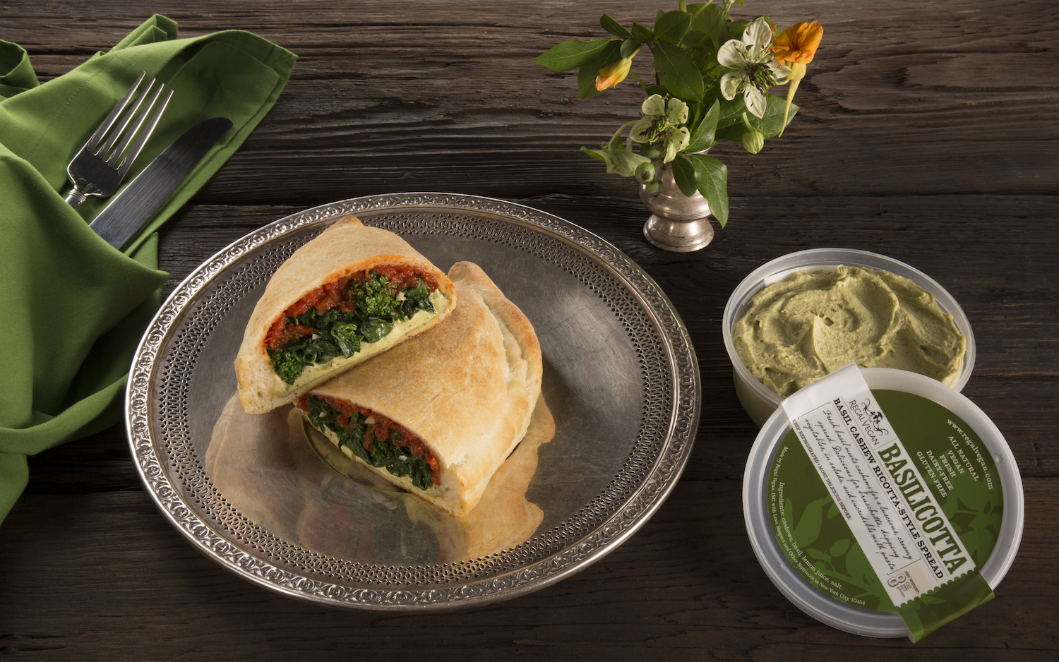 Regal Vegan Basilicotta™ & Broccoli Rabe Calzones