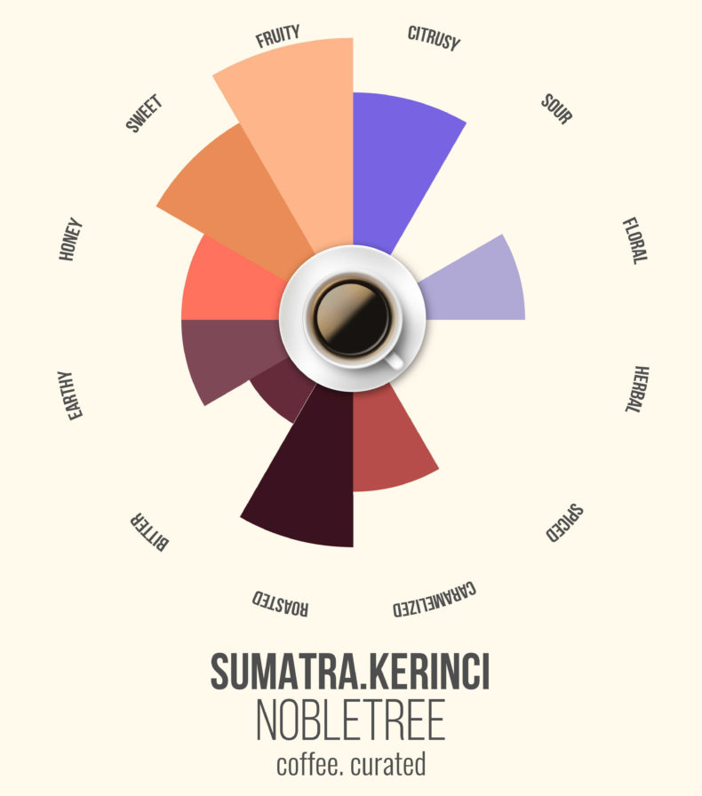Sumatra Kerinci, Nobletree Coffee, coffee. curated.