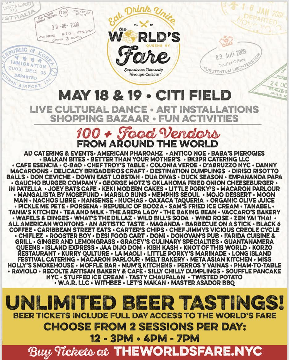 100 Vendor World's Fare POSTER 2019